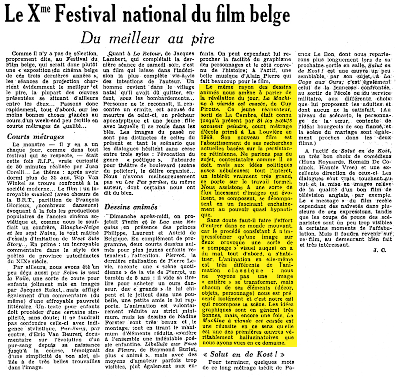 Le Xme Festival national du film belge
